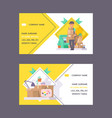 courier business card postman man character vector image vector image