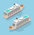 cruise liner set isometric view vector image vector image