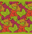cute pattern withmess of falling maple leaves vector image vector image