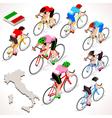 Cyclist 2016 Giro Italia Isometric People vector image vector image