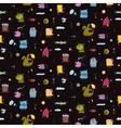 Dark black colorful monsters seamless background vector image vector image