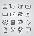 Different slyle of shopping icons collect vector image vector image