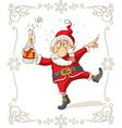 Drunk Santa Dancing Cartoon vector image vector image