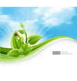 eco-friendly abstract background vector image