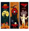halloween holiday horror party invitation banner vector image vector image