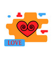 heart icon red with trendy modern vector image vector image
