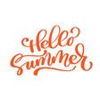 hello summer handwritten vector image vector image