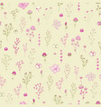herbs and flowers botanical seamless pattern in vector image vector image
