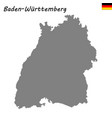 high quality map is a state germany vector image vector image