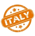 Italy grunge icon vector image vector image