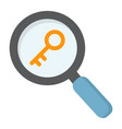 keyword research flat icon seo and development vector image vector image
