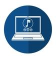 Laptop music player app modern shadow