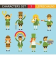 Leprechauns Ggnomes Characters set Celebration St vector image vector image