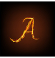 letter fire vector image