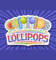 logo for lollipops vector image vector image