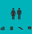 man and woman icon flat vector image vector image