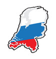 map of the netherlands with its flag vector image vector image