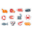 meat products and seafood vector image vector image