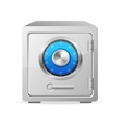 metal safe icon Security concept vector image vector image