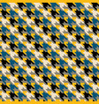 multicolor geometric abstract houndstooth seamless vector image vector image