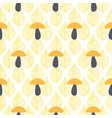 mushroom cute seamless pattern fall vector image