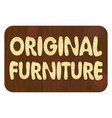 original furniture wood art inlay lettering vector image vector image