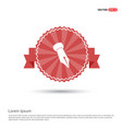 pen nib icon - red ribbon banner vector image