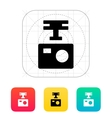 Portable drone camera icon vector image