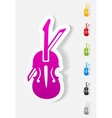 realistic design element violin vector image