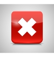 Red Check Mark Icons vector image vector image