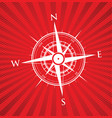 red compass background vector image vector image