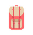 red school backpack in flat style backpack vector image
