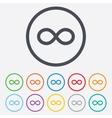 Repeat icon Loop symbol Infinity sign vector image vector image