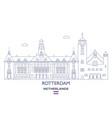 rotterdam city skyline vector image vector image