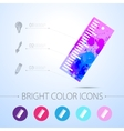 ruler icon with infographic elements vector image vector image