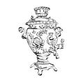 Russian samovar sketch tea vector image vector image
