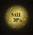 sale-gold vector image