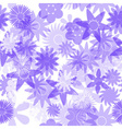 seamless blue water colours simple floral pattern vector image vector image