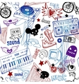 Seamless music background vector image vector image