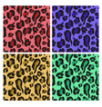 seamless pattern with colorful leopard skin vector image vector image