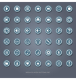 set flat media player buttons vector image