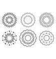 set hand drawn circular ornaments isolated vector image