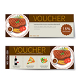 set of food voucher discount template design vector image vector image