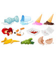 set of junk on white background vector image vector image
