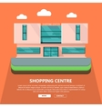 Shopping Centre Web Template in Flat Design vector image vector image