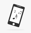 smartphone with music icon isolated vector image