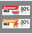 Summer sale voucher templateDiscount coupon Banner vector image vector image