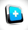 Switzerland 3d square button vector image vector image
