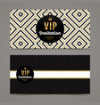 template design for vip invitation vector image vector image