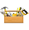 toolbox with instruments vector image vector image